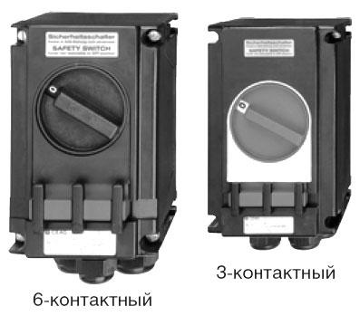 Взрывозащищенные 3- и 6-контактные выключатели, 20 А